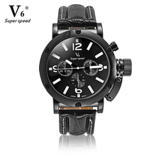 V6 Luxury Brand Beinuo Quartz Watches Men Leather Watch Outdoor Casual Wristwatch Male Clock relojes hombre Relogio Masculino