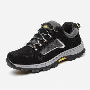 Image 3 - גברים בטיחות בעבודת כובע הבוהן פלדה של גברים בלתי ניתן להריסה בטיחות נעליים קל משקל תעשייתי בנייה נעל Mens חורף מגפיים
