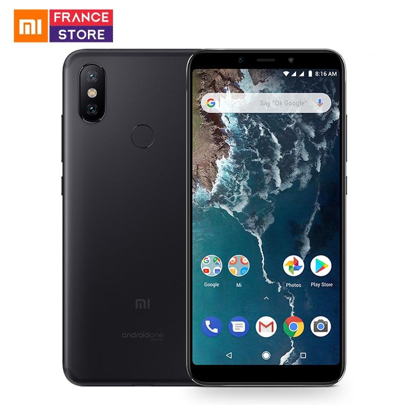 Smartphone Xiami Mi A2 Version internationale 5.99 pouces ratio d'écran 18:9 4 Go 32 Go Snapdragon 660 AIE caméra avant 20 MP Android