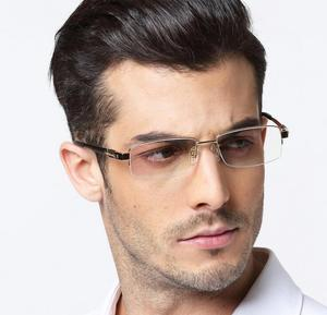 Image 3 - 男性の 100% 純粋なチタン老眼鏡ハーフリムレスリーダー + 50 + 75 + 100 + 125 + 150 + 175 + 200 + 225 + 250 + 275 + 300 + 325 + 350 + 375