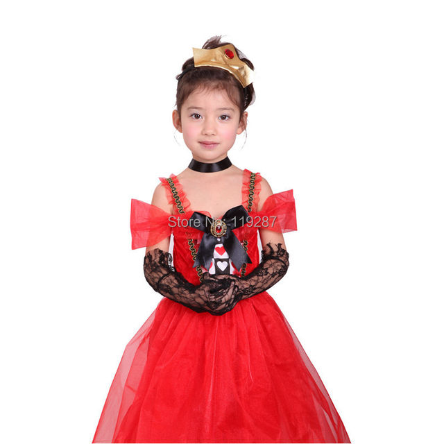 shanghai story new halloween costumes for cosplay kids dance elegant hearts princess dresses costumes evil queen dress