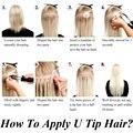 How To Apply Nail/U Tip Hair Extensions MrsHair Hot Fusion Pre Bonded Hair Extension Keratin Application