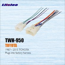 For TOYOTA 1987 2013 Male ISO Radio Wire Cable Wiring Harness Car Stereo Adapter Connector Plugs_220x220 popular toyota wiring factory harness buy cheap toyota wiring  at webbmarketing.co