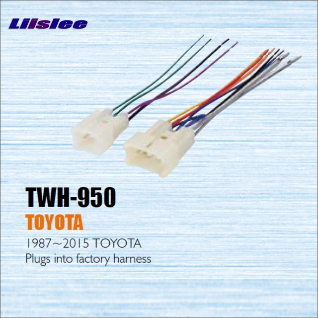 Liislee For TOYOTA 1987 2013 / Male ISO Radio Wire Cable Wiring ...