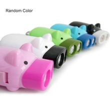 ICOCO Mini Hand Pressure Pig Torch Self-generating LED Flashing Light Portable Flashlight With 2 LEDs (Random Color) Dropship