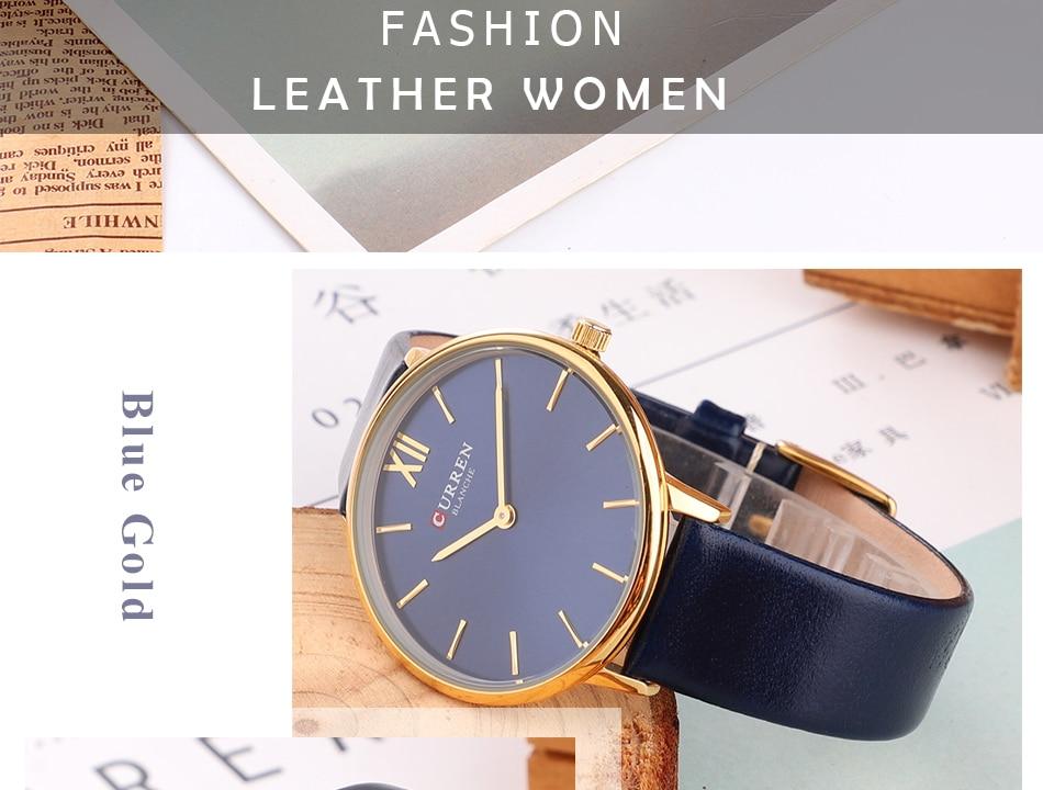 CURREN 9040 PU Leather Analog Watch 7
