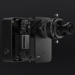 Xiaomi Mijia Mini 4 K 30fps działanie 7 szklany obiektyw sześć osi EIS 145 stopni Ultra szeroki kąt z 2.4 cal ekran dotykowy 4