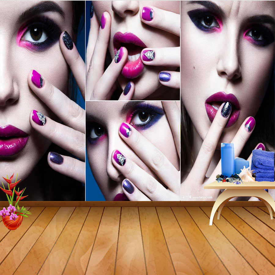 Shinehome-SPA uñas pie salón arte cosmético 3 d papel tapiz para habitación 3d fondo de pared rollos de papel rollo de papel fondos papel De Parede
