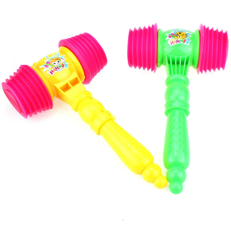 Toy Hammer Plastic Baby Classical-Toys 1pc Whisted-Belt Vocalization Small