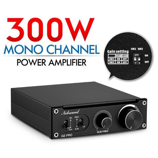 2020 Nobsound Hi Fi G2 /G2 pro Subwoofer / Full Frequency Mono Channel Digital Power Amplifier 100W or 300W