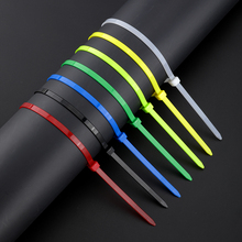 12inch Colorful Plastic Cable Ties 100Pcs/pack Wire Zip Tie High Quality for wire straps mixed color strong nylon fastener