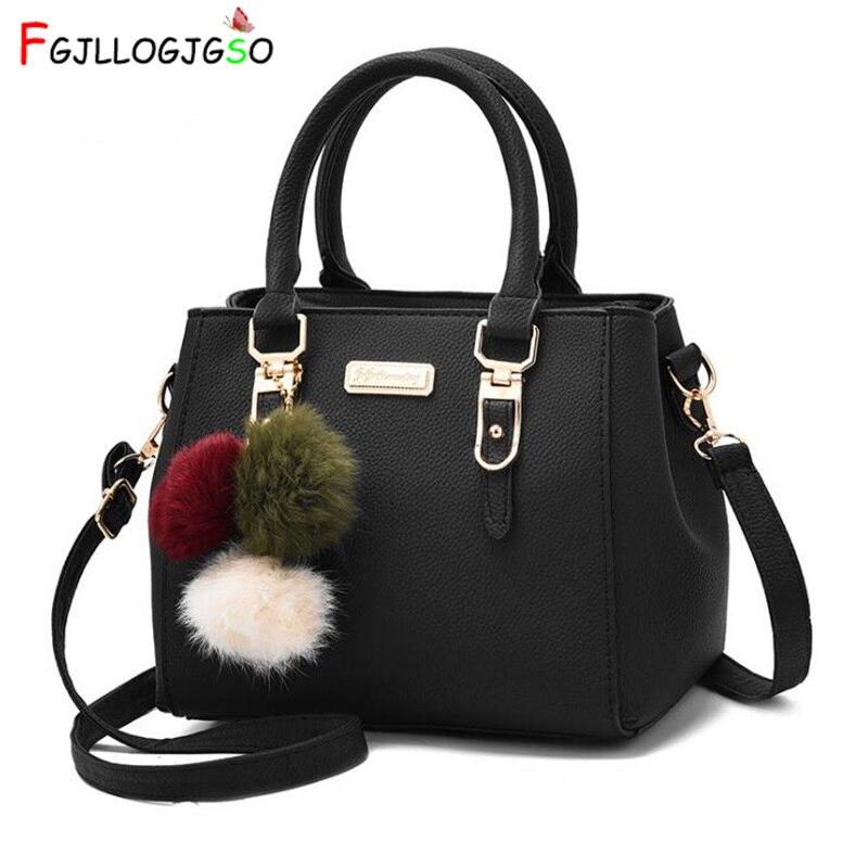 FGJLLOGJGSO brand women hairball ornaments totes solid sequined handbag Hot party purse lady messenger crossbody shoulder bags Сумка