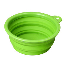 Pet Cat dog Bowls folding collapsible silicone puppy doggy feeder water food container foldable style on sale