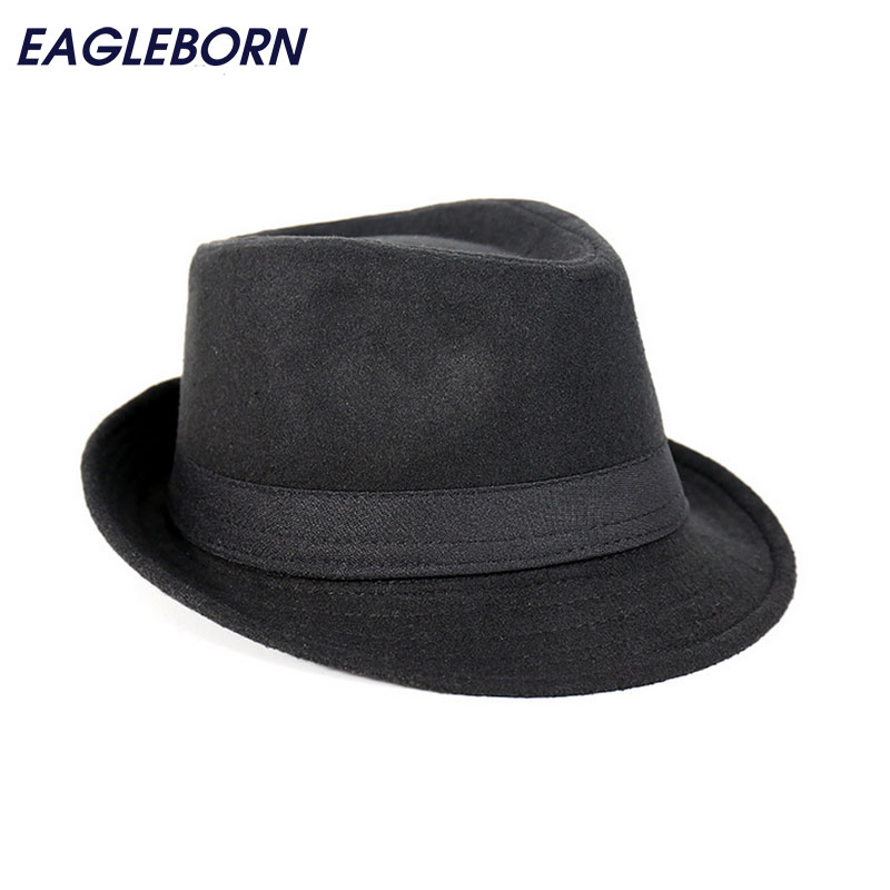 Free Shipping Wide Brim men Fedora Hats Jazz Caps flat top hat gorras casquette Brief Style hat chapeu(China)