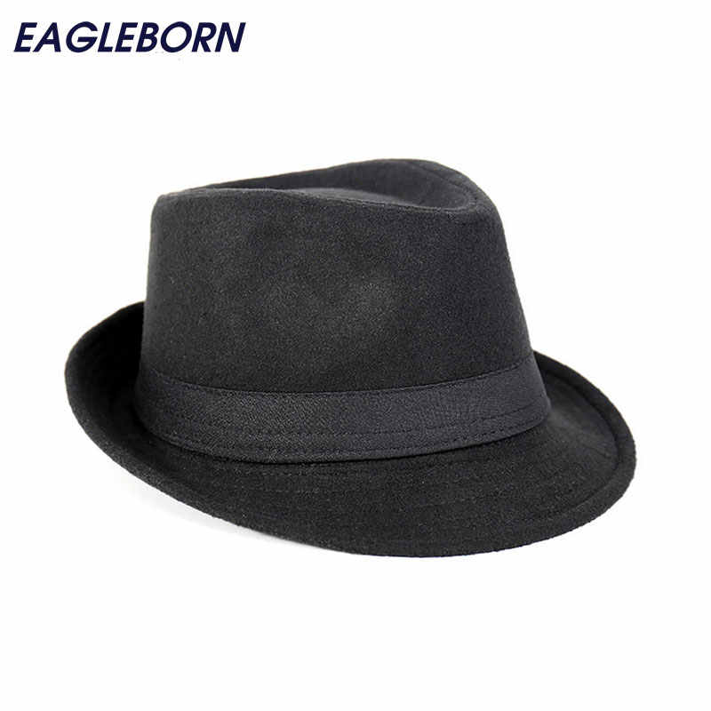 4e774f4a2d Free Shipping Wide Brim men Fedora Hats Jazz Caps flat top hat gorras  casquette Brief Style hat chapeu
