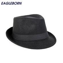 Free Shipping Wide Brim men Fedora Hats Jazz Caps flat top hat gorras casquette