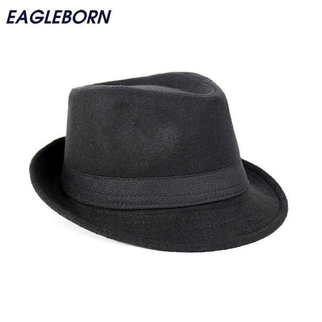 Spedizione Gratuita Tesa Larga degli uomini Cappelli della Fedora di Jazz  Caps flat top hat gorras 93a6f733371d