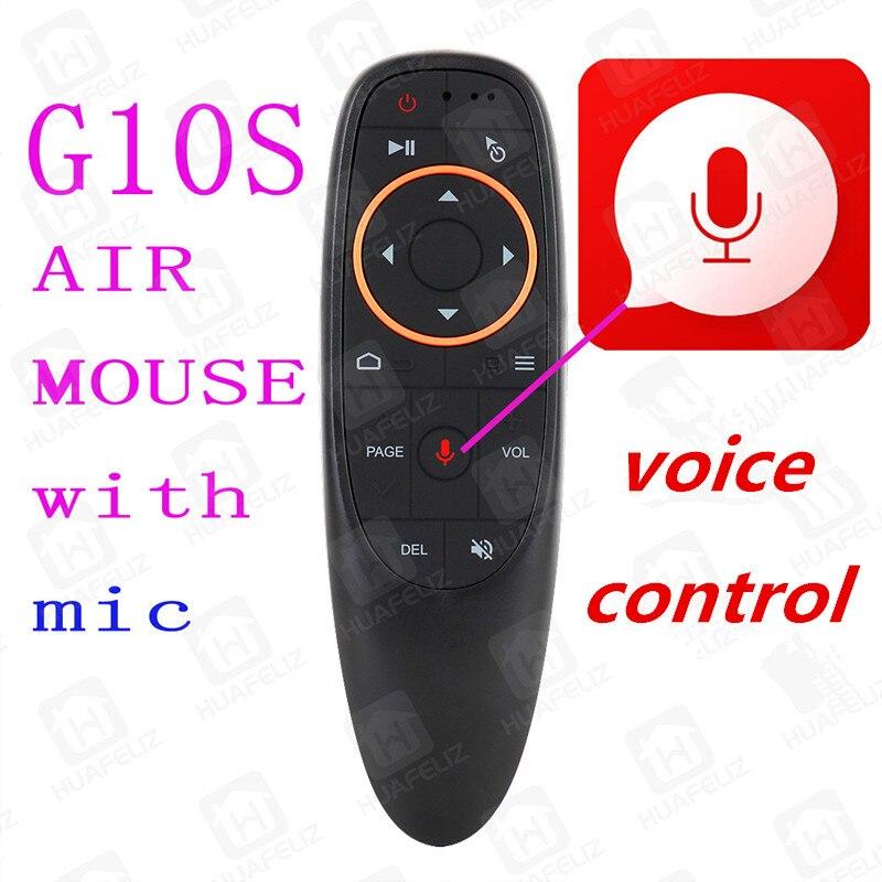 G10 Air Mouse Control de voz inalámbrico de 2,4 GHz Gyro de control de voz inteligente de Control remoto para Android TV BOX T9 x96mini t95q