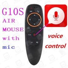 G10 Air Мышь голос Управление 2,4 ГГц Беспроводной гиродатчик голос Управление Smart Remote Управление для Android ТВ коробка T9 x96mini t95q
