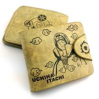 Anime Naruto Wallet Uchiha Itachi Sharingan Print Leather Women Men Purse Short Style Card Holder Purses Carteras Money Bag