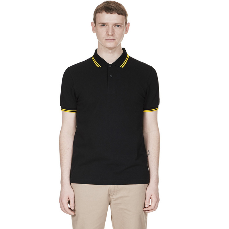Fred High Quality Perriinglys Brand 100 Cotton Polo Sports Short Sleeve Men comprehensive training
