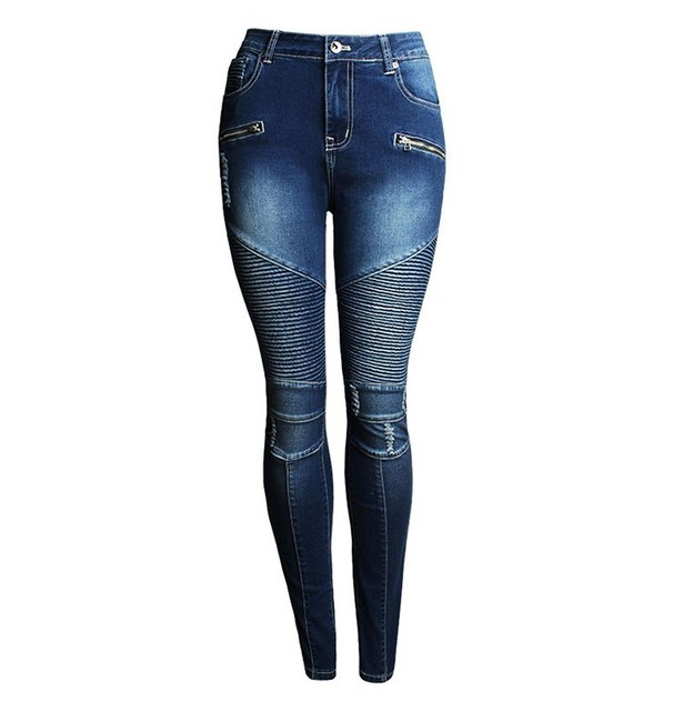 Women's Patchwork Stretch Denim Skinny Jeans