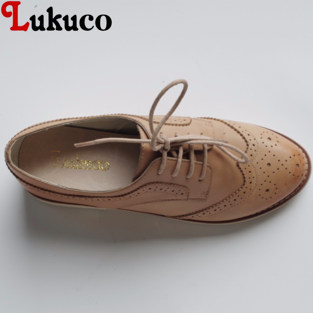 Lukuco pure color concise style round toe women brogue flats cut-outs deign microfiber made lace-up shoes with pigskin inside lukuco pure color women mid calf boots microfiber made buckle design low hoof heel zip shoes with short plush inside
