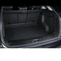 Lsrtw2017 волокно кожа багажник автомобиля коврики для Range Rover велар 2018 2019