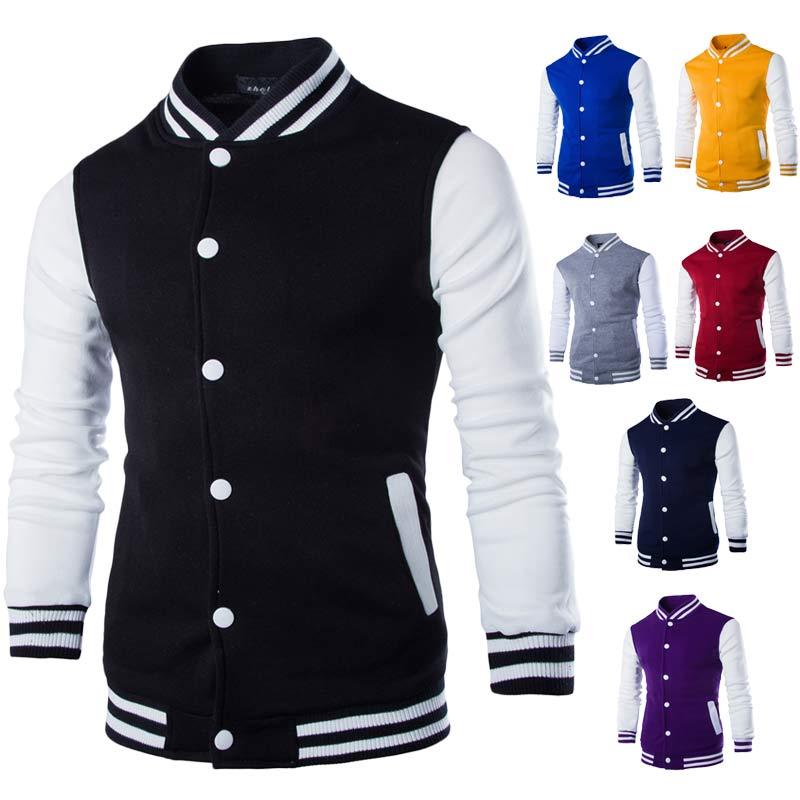 2019 New Men/Boy Baseball Jacket Men Fashion Design Wine Red Mens Slim Fit College Varsity Jacket Men Brand Stylish Veste Homme