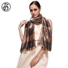 d3d31e056944 FS Femmes Écharpes De Luxe Marque Grand Pour Dames Desigual Soie D été Foulards  Châles Et Wraps Echarpes Hijab Imprimé floral Pa.