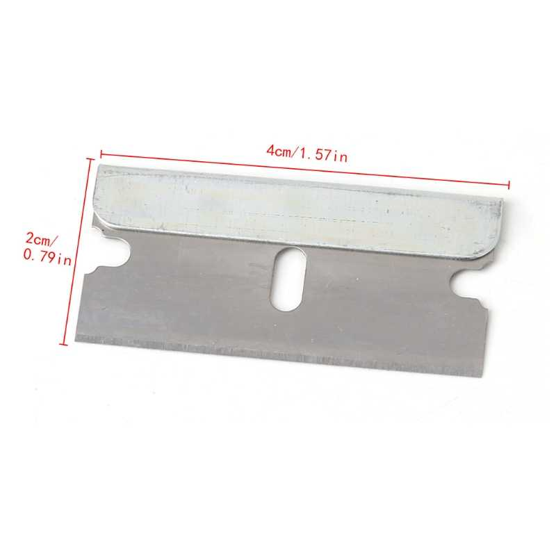 5Pcs Cerâmica Forno De Vidro Tintométrico Janela Raspador De Barbear de Aço Inoxidável 1.57 ''Blade