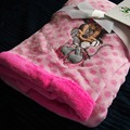 90x75cm small pink minnie mouse plush coral fleece blanket kids throw blanket baby blanket girl gift