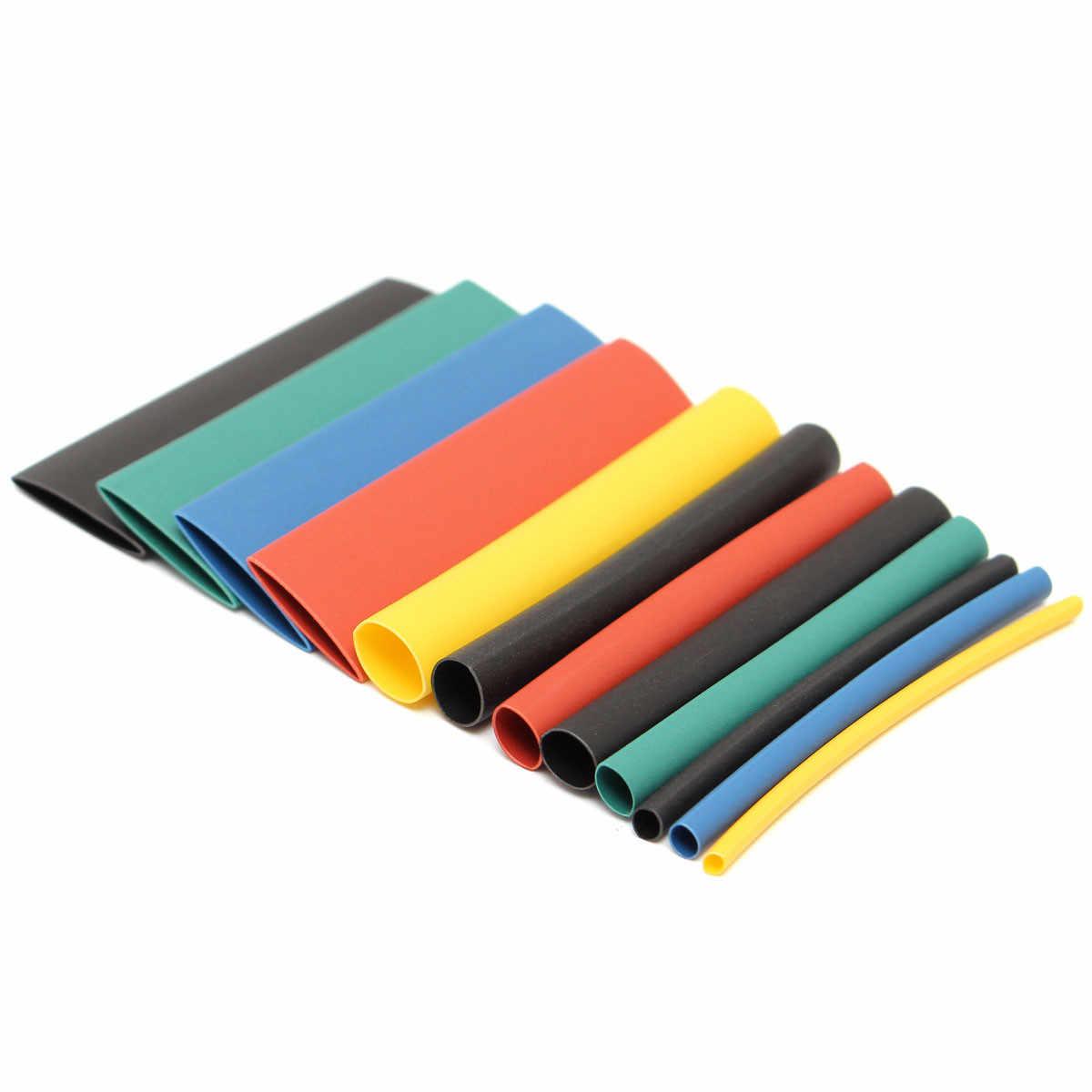 280 pièces 8 tailles Multi couleur 2:1 thermorétractable tube gaine wrap kit RSFR-H thermorétractable tube jaune bleu noir vert rouge