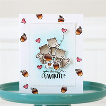 YaMinSanNiO Squirrel Dies Scrapbooking Metal Cutting New 2019 Nut Stamps and Clear Stamp Crafts Cuts Card Making