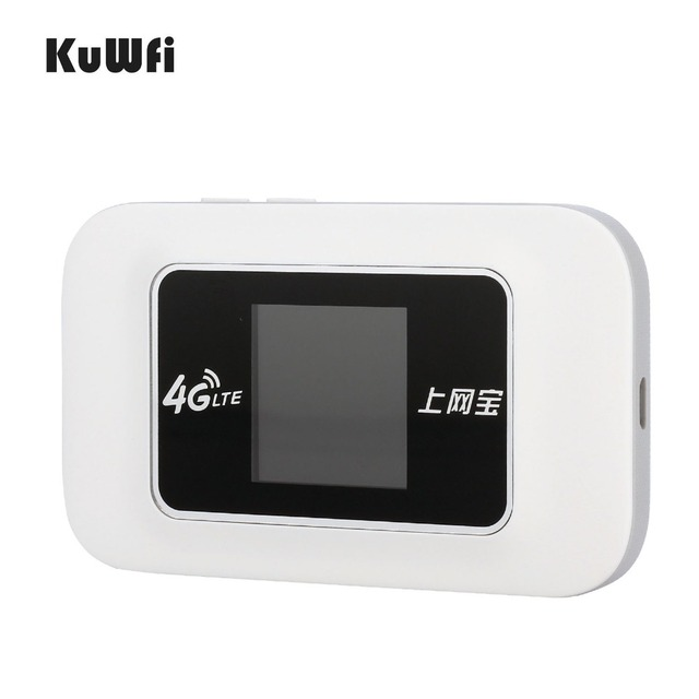 KuWFi 4G LTE Wireless Router Mini 3/4G FDD TDD WIFI Router With SIM Card Slot 4G Mobile Wi-fi Hotspot