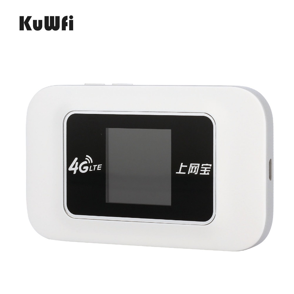KuWFi Car Unlocked 100Mbps Mini 4G WIFI Router Wireless LTE Router Mobile WiFi Hotspot 3G 4G WiFi Router With SIM Card Slot unlocked original huawei e960 3g router with sim slot e960 3g wireless router