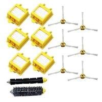 Hepa Filters Bristle Brush Flexible Beater Brush 3 Armed Side Brush Pack Set For IRobot Roomba