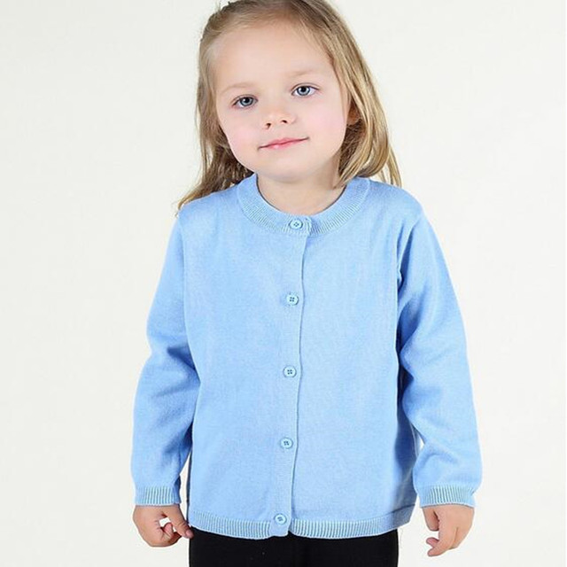 Retail Baby Clothes Candy Color  Baby Girls Sweater Cardigan Autumn Long Sleeve Cotton Baby Sweater Coat Little Girls Clothing