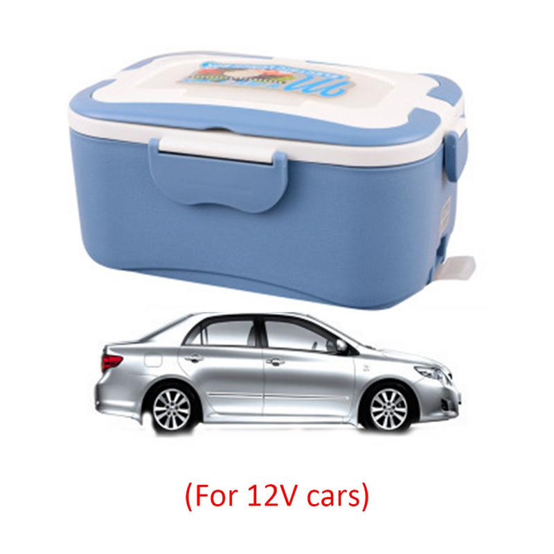 12V/24V/220V Electric Rice Cooker Car Heat Insulation Lunch Box Charging Hot Rice Cooker Multi Food Warmer Box for Truck Car portable 12v car electric heating lunch box rice cooker food warmer 1 05l 40w