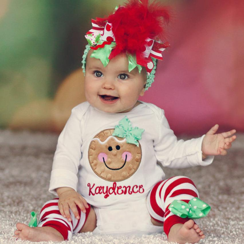 Los niños Ropa de Bebé niña Conjunto 1 Del Mameluco de Navidad Calentador de La Pierna Del Mono Trajes Tmall Niños Recién Nacidos traje Ropa Conjuntos para niñas