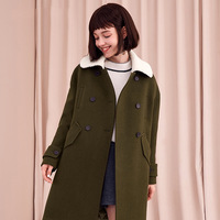 Pure color temperament woolen coat in the long paragraph women's 2018 autumn and winter new Korean long sleeved straight jacket