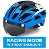 Victgoal capacete de bicicleta mountain bike, capacete de luz para ciclismo moldado integralmente à prova de vento com óculos de proteção 16