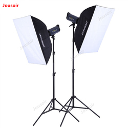 300W Dual Light Professional Photography Flash set 2 lamps kit Photographic Equipment studio Lighting Set LIE HU4 CD50 T10