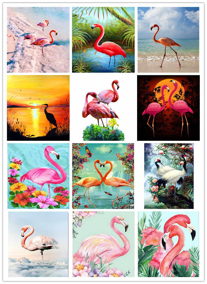 Iphone 6/6s case for cross stitch KIT whith Flamingo pattern and