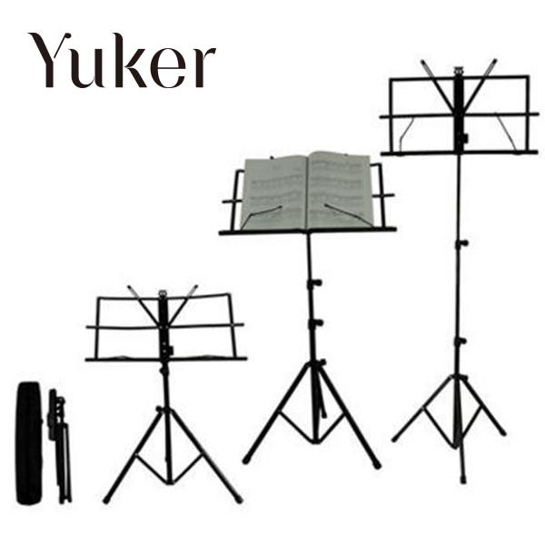 Yuker Folding Portable Metal Music Stand Holder Rack Sheet With Carrying Bag Guitar Instrument Part Accessories allen roth brinkley handsome oil rubbed bronze metal toothbrush holder