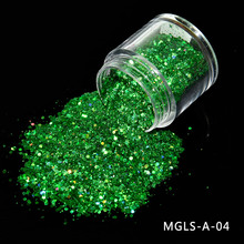 цена на 1 Bottle New Chameleon Flakes Magic Effect Holographic Nail Powder Glitter Vtirka DIY Nail Art Flakes Pigment
