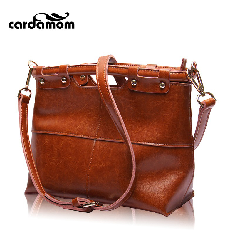 Кардамон Воск коровьей Винтаж небольшая сумка Пояса из натуральной кожи Для женщин Сумочка Дизайнер Tote Сумки через плечо высокое качество