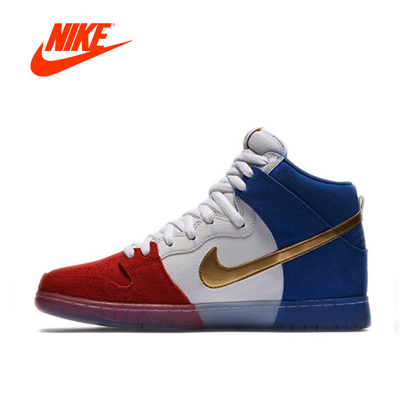 Original New Arrival Authentic Nike Dunk High Premium SB Men's Breathable Skateboarding Shoes Sport Outdoor Sneakers 313171-674 кроссовки nike dunk low sb valentines day 313170 662