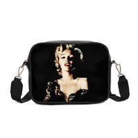 VEEVANV Brand Design Messenger Bags Fashion Luxury PU Leather Sexy Marilyn Monroe 3D Printed Sling Bag Square Shoulder Bag Women
