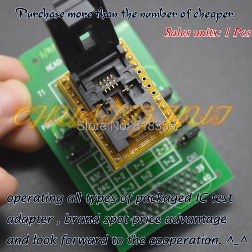 6*8mm QFN8 WSON8 MLF8 DFN8 socket HEAD-SEEP-QFN8 Programmer Adapter for GANG-08 Programmer